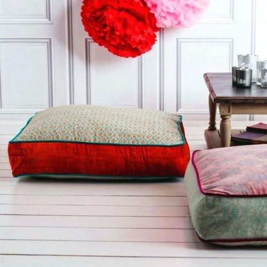 floor cushion boho style