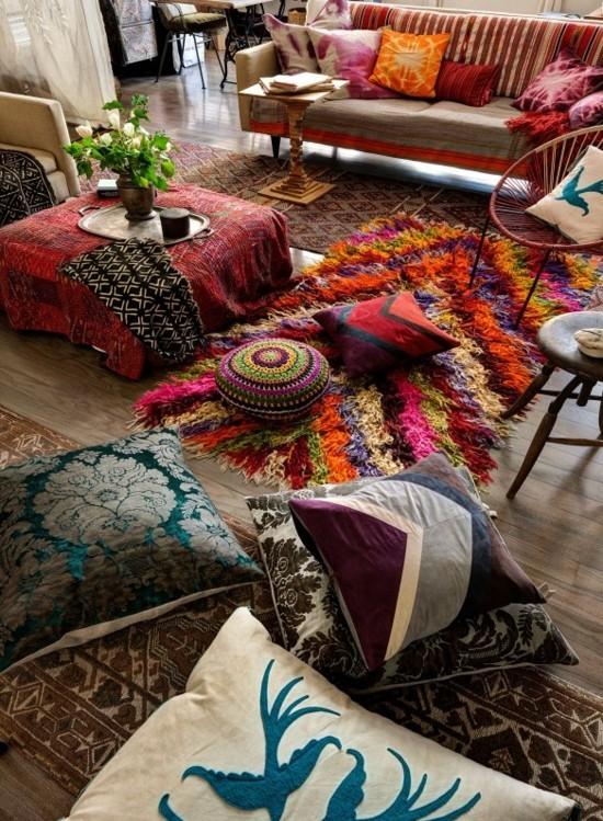 bodenkissen indischer stil wohnzimmer