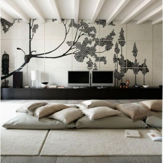bodenkissen lounge wohnzimmer