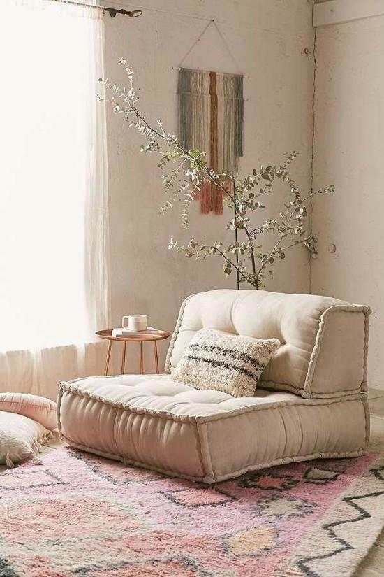 floor cushion sofa living room set up