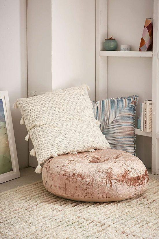 floor cushions velvet wool