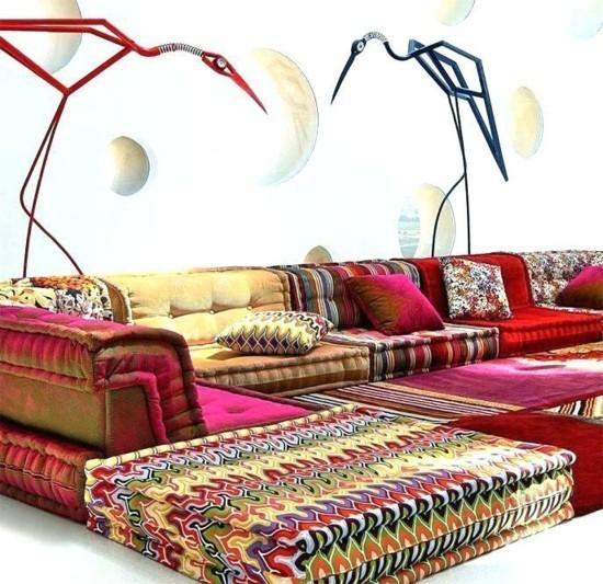 bodenkissen sofa ideen roche bobois missoni home
