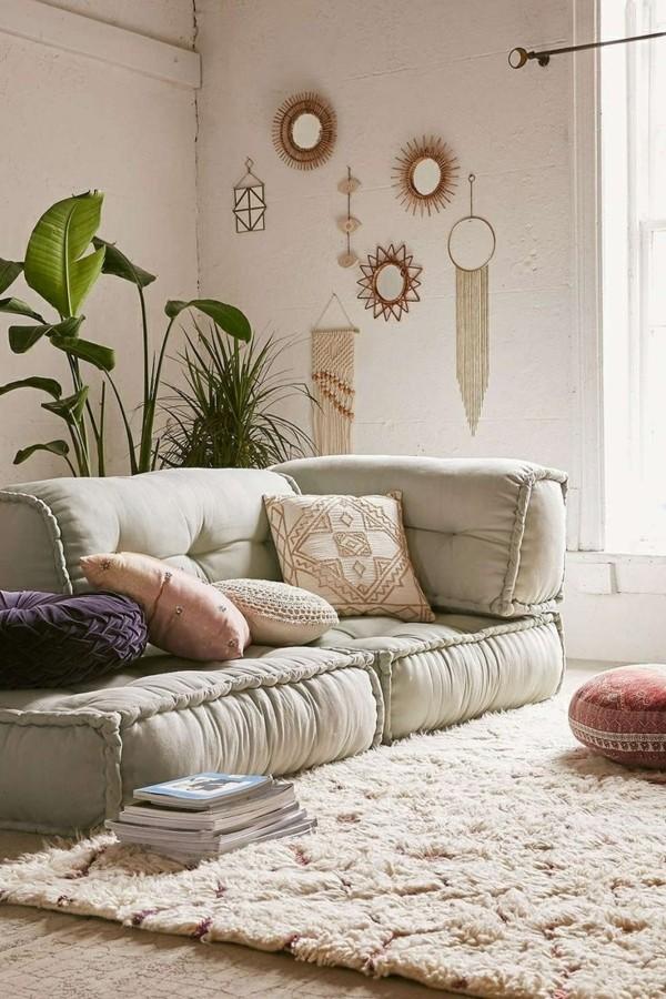 orientalisch einrichten bodenkissen sofa