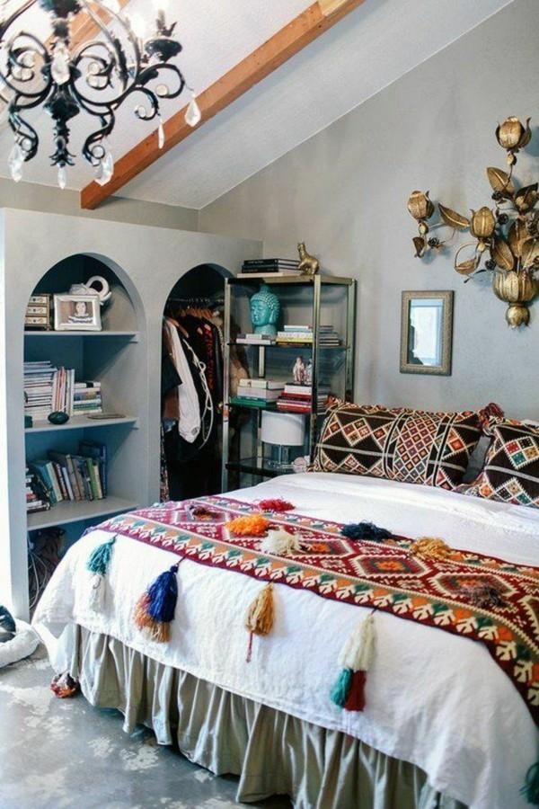 boho chic schlafzimmer orientalisch einrichten