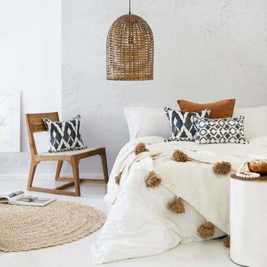 boho elements scandi bedroom furnishing ideas