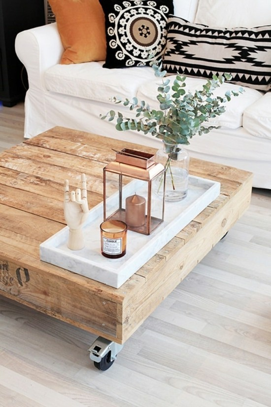 boho nordic home decorating diy coffee table