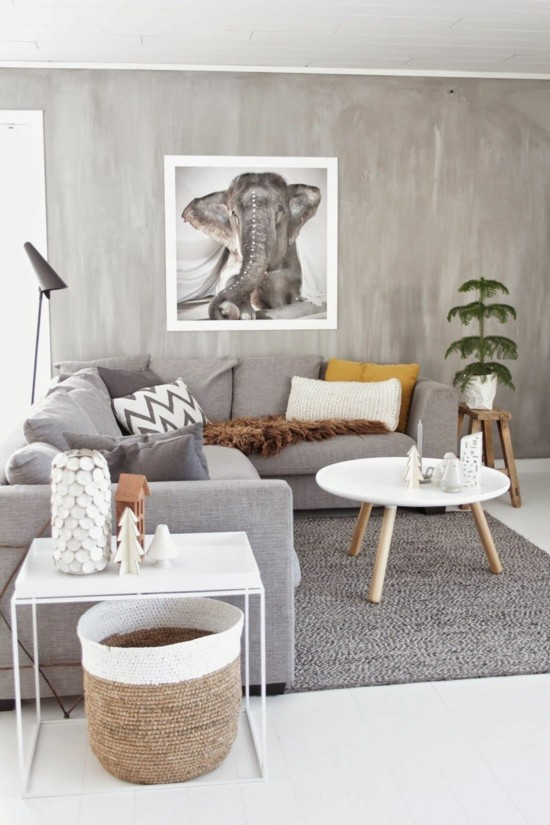 boho scandi style living room furnishing ideas