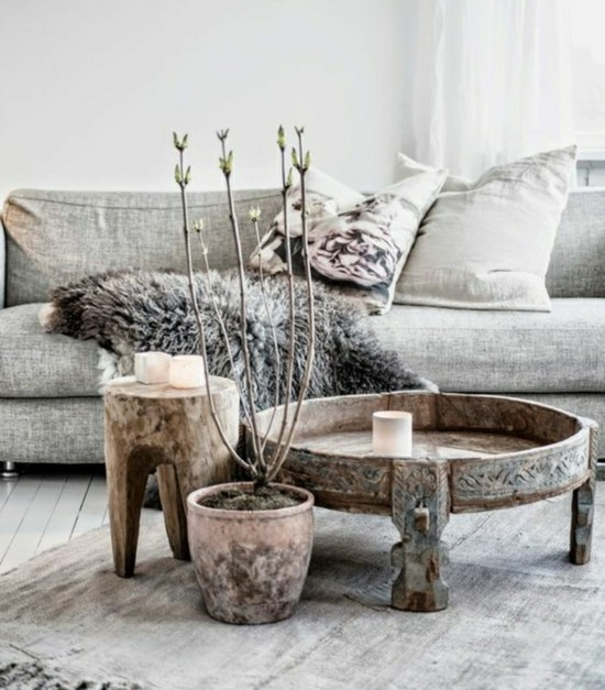 boho scandi style living room furniture design ideas