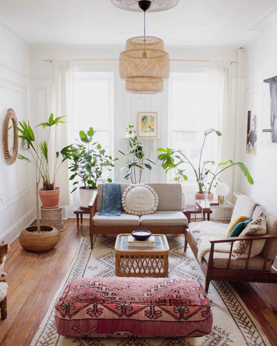 boho scandinavian style home decor living room