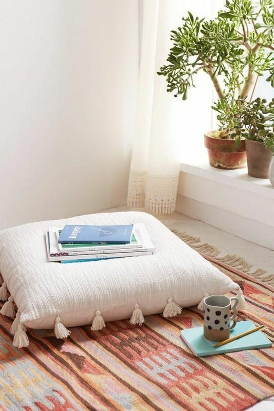 boho style floor cushion ideas