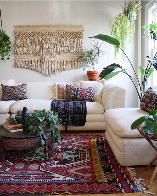boho stil orientalische einrichten wohnzimmer