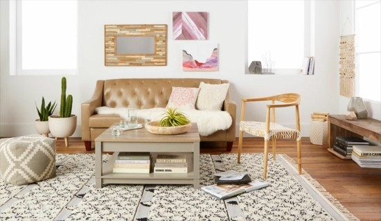boho style scandi chic furnishing ideas