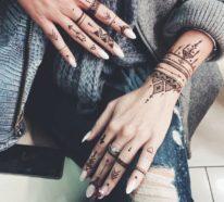 90 schöne Henna Tattoo Ideen – neueste Trends und wunderschöne Motive