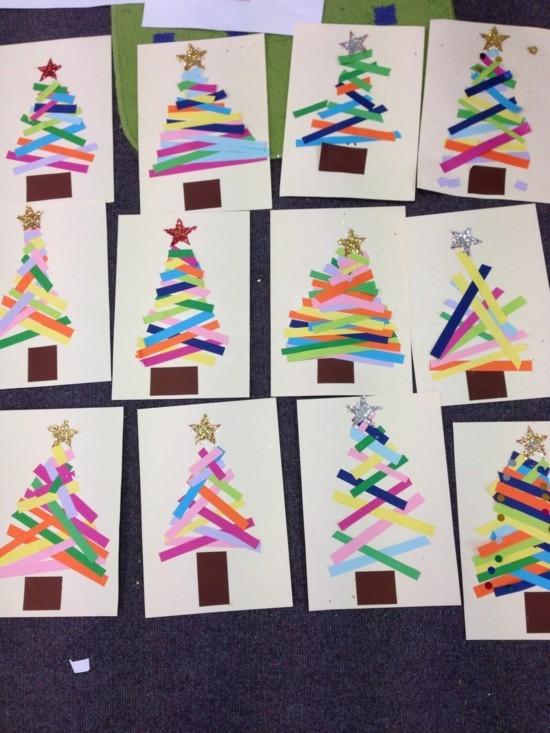 60 originelle weihnachtskarten basteln mit kindern - Weihnachtskarten basteln mit kindern ...
