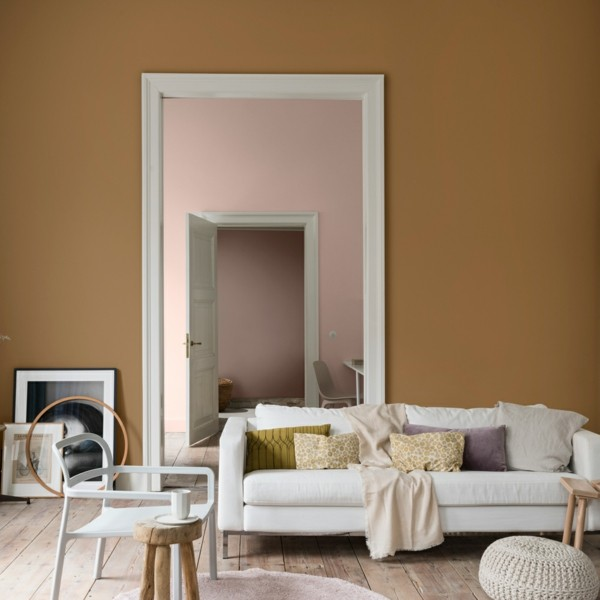 dulux wandfarben ideen spiced honey altrosa
