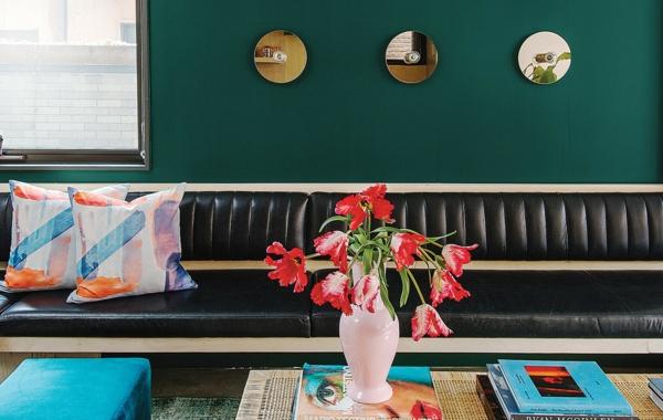 dunkelgrün wohnzimmer wandfarben ideen