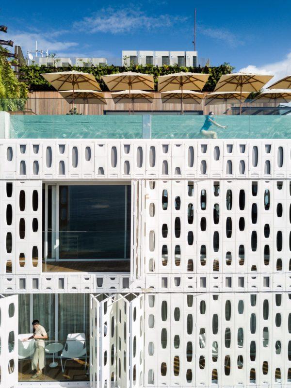 eimiliano hotel moderne architektur von oben