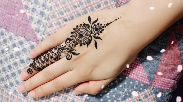 einfache henna tattoo ideen hand