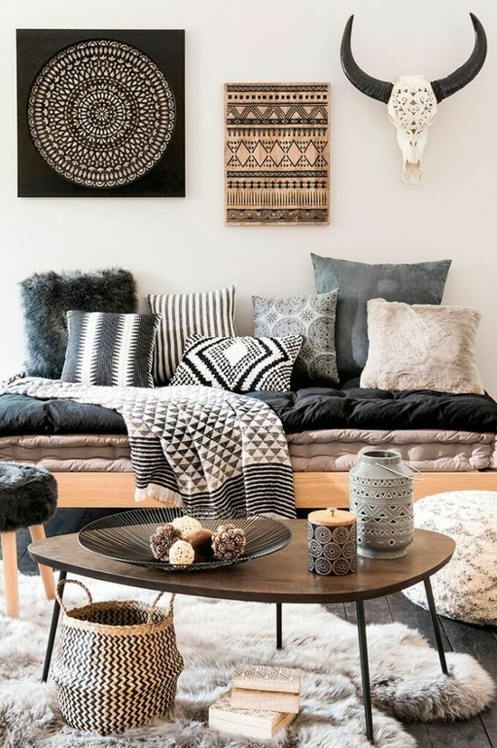 furnishing ideas bohemian style scandi living room