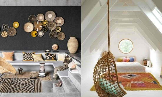 furnishing ideas boho scandi style