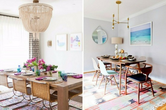 furnishing ideas in bohemian chic scandi style