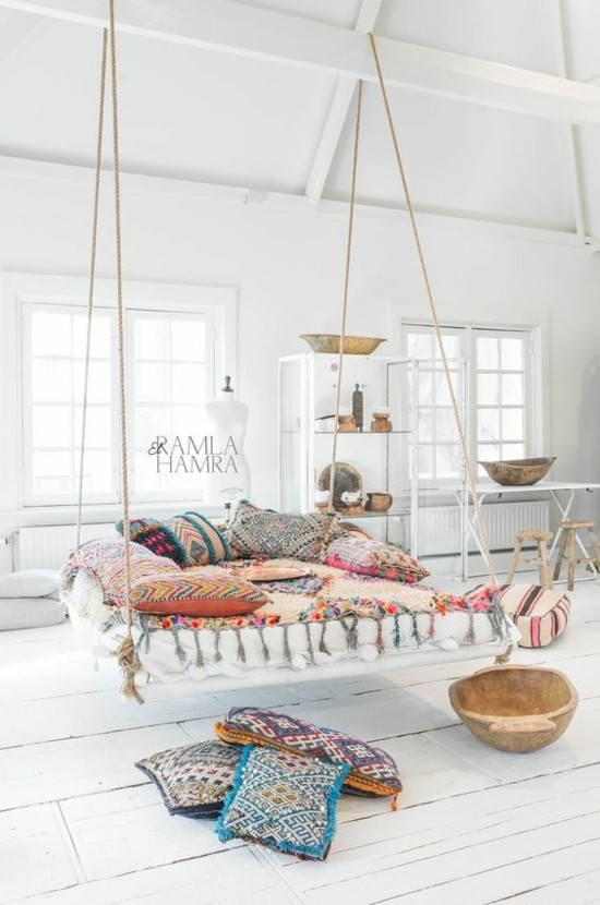 furnishing ideas in scandinavian boho style