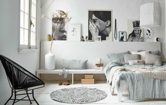 furnishing ideas bedroom boho scandi style