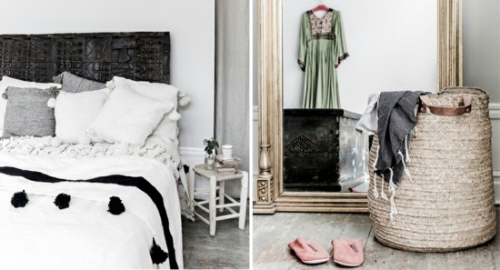 furnishing ideas bedroom scandi boho style
