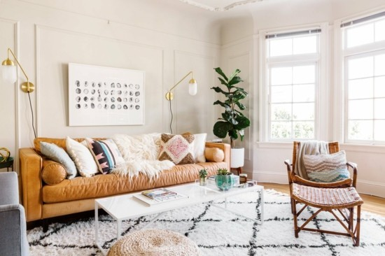 furnishing ideas living room scandi boho
