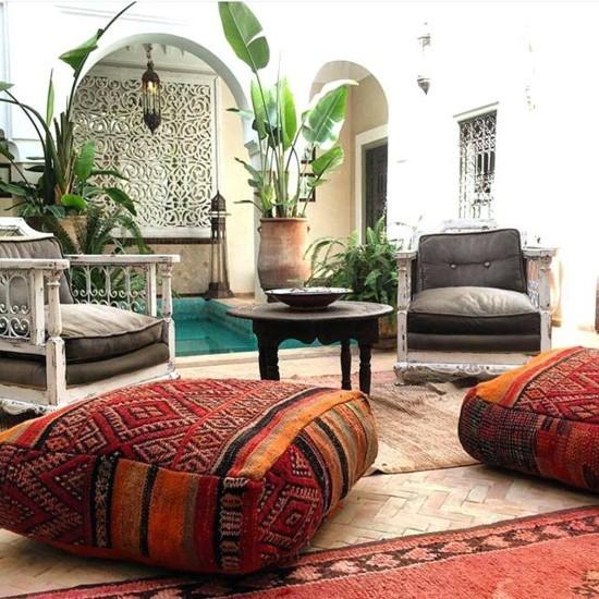 ethno style floor cushion