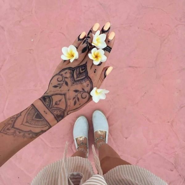 festliche tattoo ideen henna