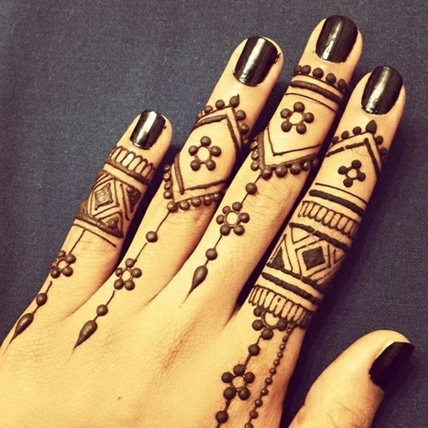 finger henna tattoo ideen
