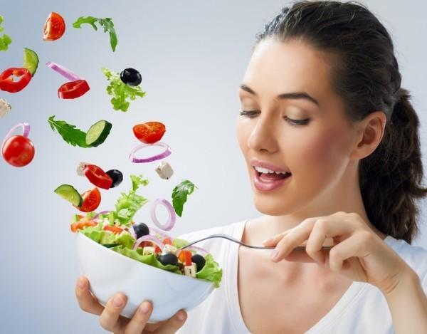 fliegender salat gesundes essen