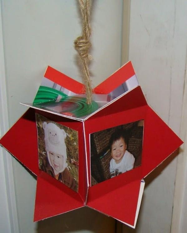 foto geschenke dekorativer stern mit bildern