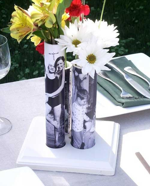foto geschenke kleine tolle vasen ideen