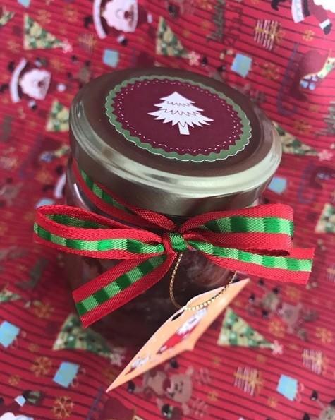 glas mit süßem weihnachtsgeschenke basteln