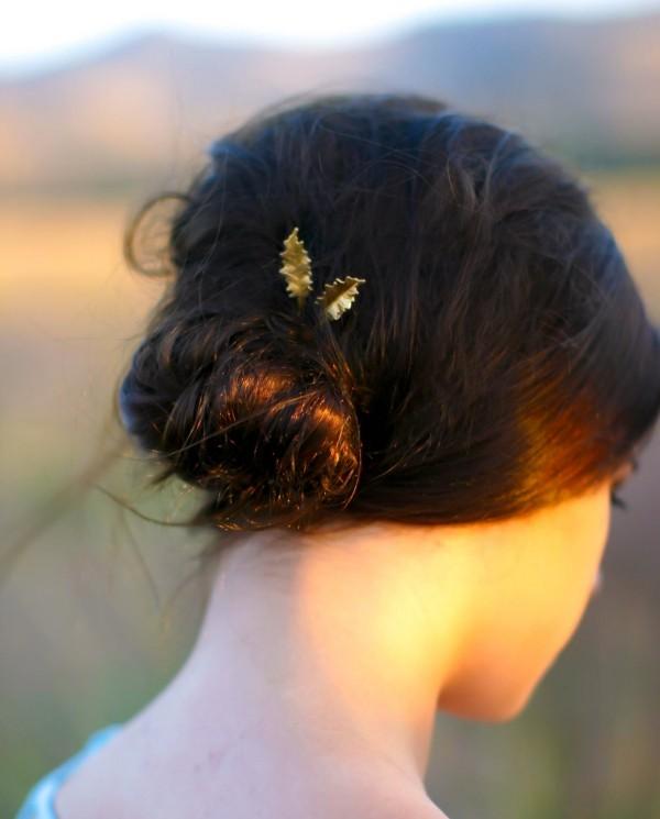 goldene tolle deko schöne frisuren