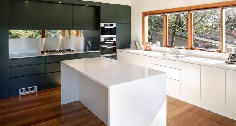 grau und weiß in Kombination Küchentrends