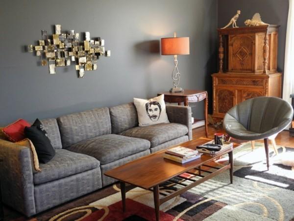 graue wandfarben ideen wohnzimmer