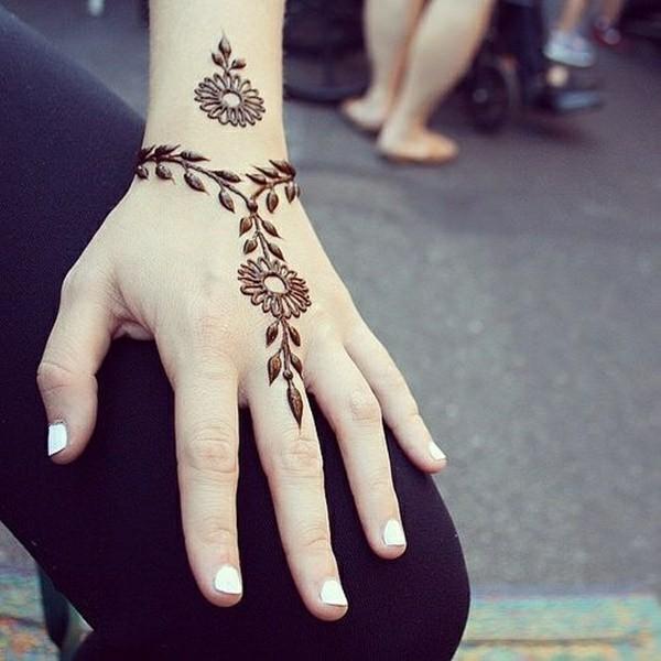 handgelenk tattoo ideen henna