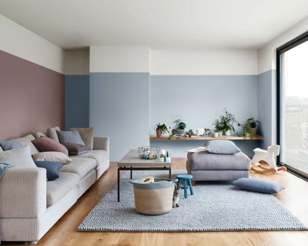 heart wood blau dulux wandfarben ideen wohnzimmer