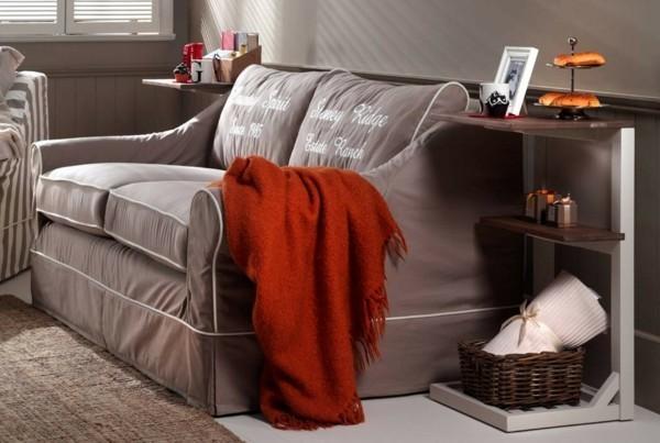 hussensofas wohnzimmer landhausstil modern