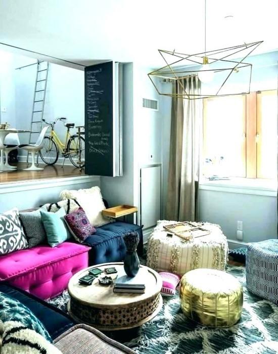 indisch einrichten bodenkissen wohnzimmer