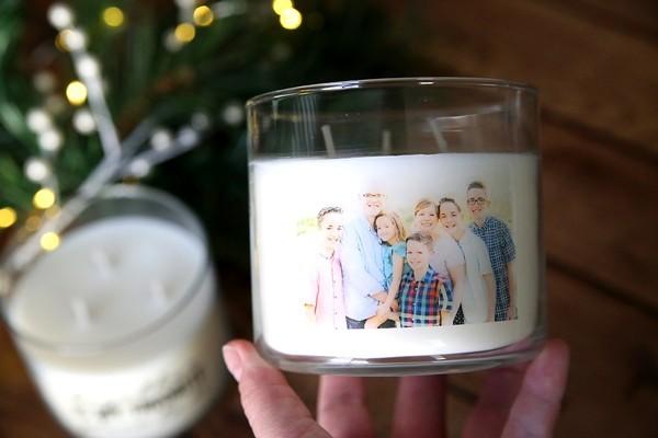 individualisierte kerze weihnachtsgeschenke basteln