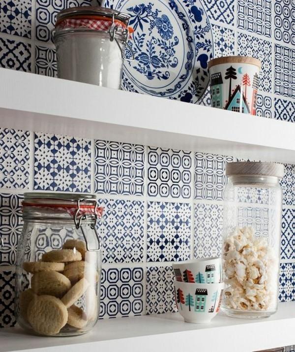 küchenfliesen küchenrückwand orientalisch einrichten