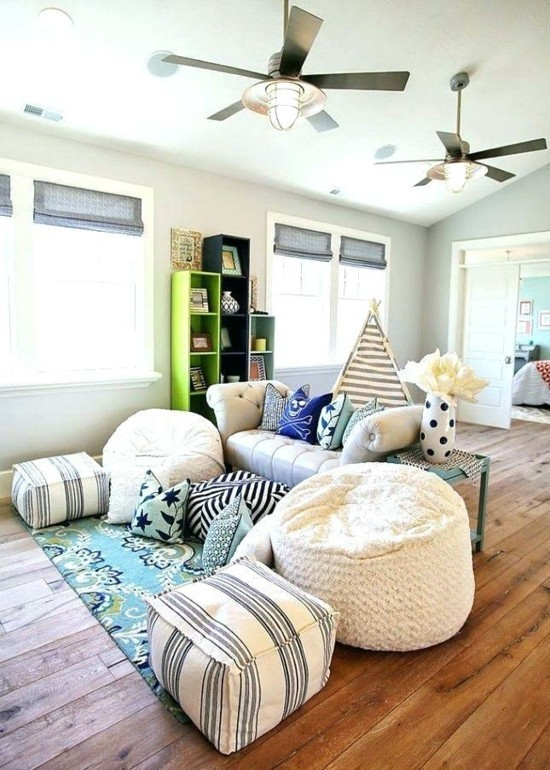 children's room ideas with floor cushions
