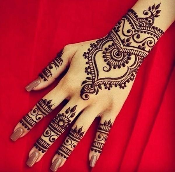 klassische henna tattoo ideen hand