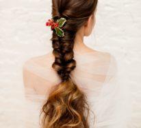 40 Schöne Frisuren für Weihanchten für Mädchen und Damen