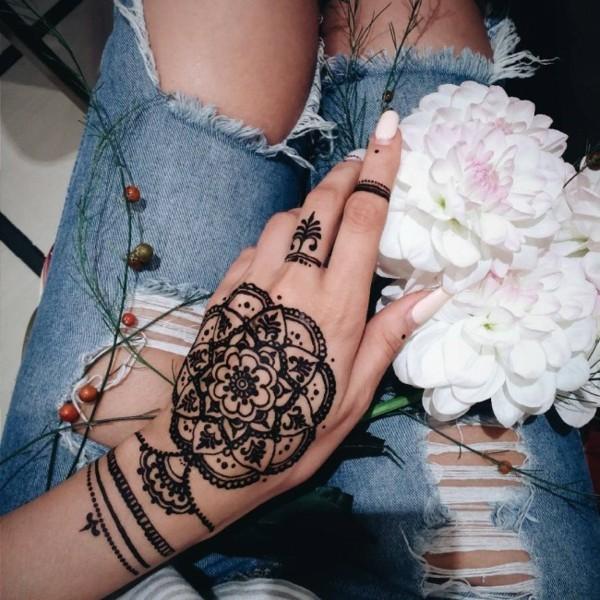 mandala henna tattoo ideen