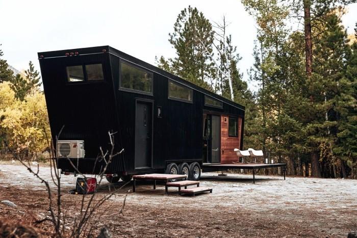 moderne architektur dunkle seite bungalow